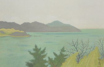 小野 竹喬「春の海」